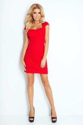118-2 Raudona mini suknelė Numoco