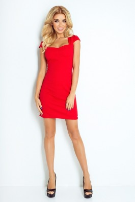 Dress with sleeves - Red 118-2 Numoco