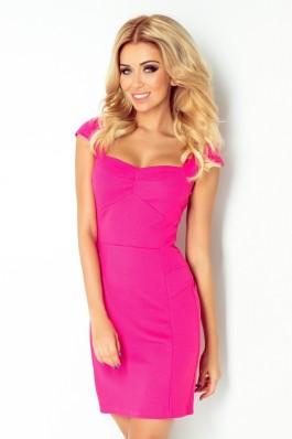 118-3 Rožinė mini suknelė Numoco