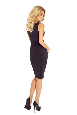 Skirt with pockets and drawstring - black 127-4 Numoco