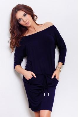 13-15 Tamsiai mėlyna sportinio stiliaus suknelė Numoco