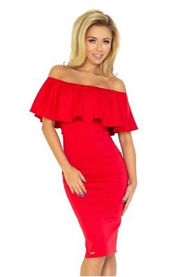Ispaniško stiliaus aptempta suknelė - raudona 138-2 Numoco