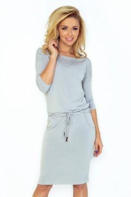 Sportinio stiliaus patogi suknelė - šviesiai pilka 13-52 Numoco