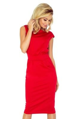 Midi ilgio suknelė - raudona 144-2 Numoco