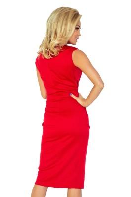 144-2 Klasikinė raudona suknelė Numoco