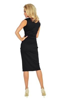 Midi ilgio suknelė - juoda 144-3 Numoco