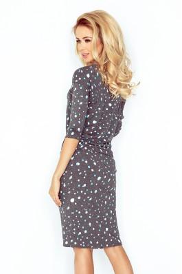 13-61 Pilka laisvalaikio suknelė su burbuliukais Numoco