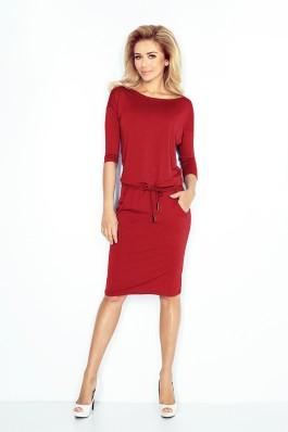 13-66 Bordo spalvos patogi suknelė Numoco