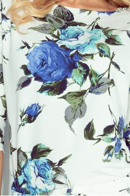13-65 Gėlėta laisvalaikio suknelė Numoco