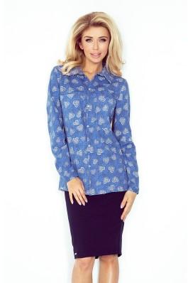 MM 018-2 Džinsiniai marškiniai su širdelėmis Numoco