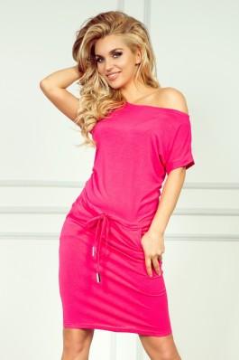56-1 Neoninė laisvalaikio suknelė - Rožinė Numoco