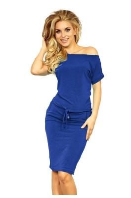 Mėlyna suknelė trumpomis rankovėmis 139-3 Numoco