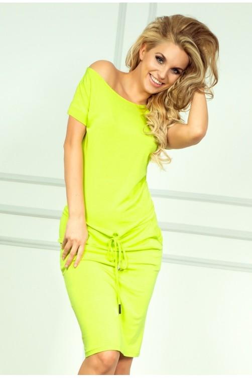 Sporty dress - NEON Lemon 56-3 Numoco