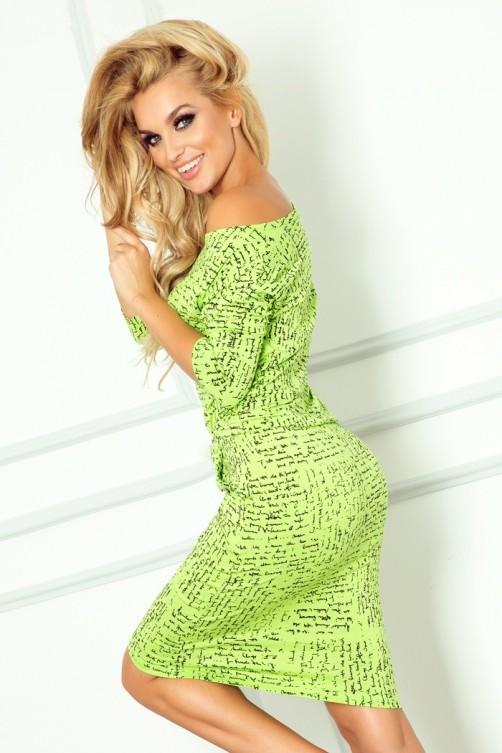 13-35 Sportiška ryškiai žalia suknelė Numoco