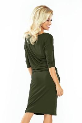 13-76 Samanų spalvos suknelė Numoco