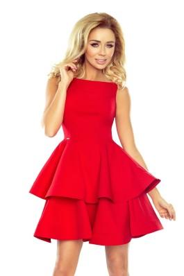 169-1 Išskirtinė puošni aukštos kokybės raudona suknelė\n Numoco