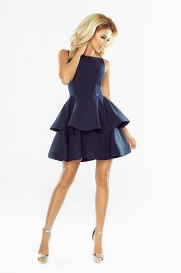 169-2 Išskirtinė puošni aukštos kokybės tamsiai mėlyna suknelė  Numoco