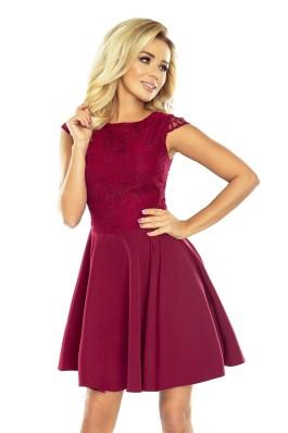 Puošni aukštos kokybės suknelė su nėriniais 157-3 Numoco