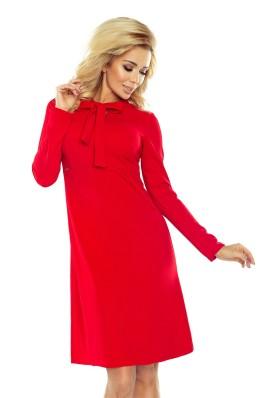 Raudona trapecijos formos suknelė 158-2 Numoco