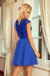 157-5 MARTA Karališka mėlyna suknelė su nėriniais