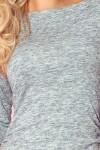 59-2 Megzta šviesiai pilka suknelė Numoco