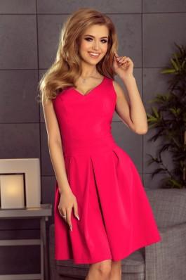 160-6 Rožinė suknelė su iškirpte