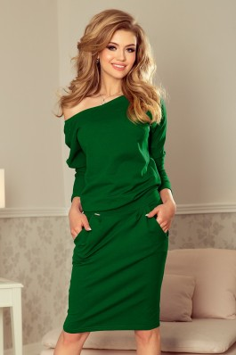 189-3 Žalia laisvalaikio suknelė