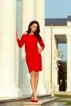 189-4 Sportinio stiliaus suknelė - Raudona