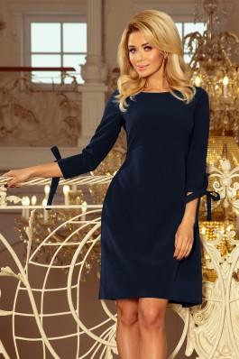195-5 ALICE Suknelė su kaspinėliais - Tamsiai mėlyna