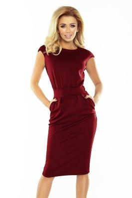 144-7 SARA - Elegantiška bordo suknelė