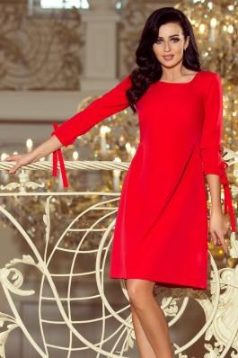 195-4 ALICE Suknelė su kaspinėliais - Raudona