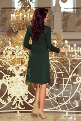 158-3 OLA Varpelio formos suknelė - Tamsiai Žalia