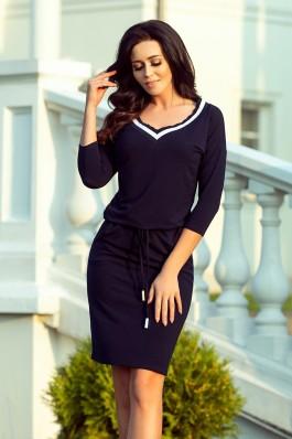 224-1 Sportinio stiliaus suknelė - Tamsiai mėlyna