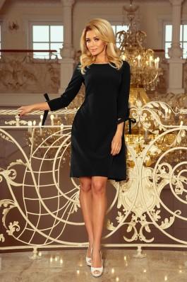 195-8 ALICE Suknelė su kaspinėliais - Juoda
