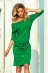 13-95 Sportinė suknelė su dirželiu ir kišenėmis - Ryškiai Žalia