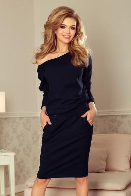 189-6 Sportinė suknelė - Tamsiai mėlyna