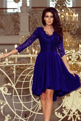 210-4 NICOLLE - Mėlyna gipiūrinė suknelė