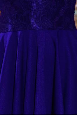 210-4 NICOLLE - Suknelė su nėriniais - ROYAL BLUE