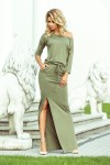 220-1 MAXI suknelė - Alyvuogių spalvos