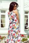 191-4 Ilga gėlėta nugaroje surišama suknelė