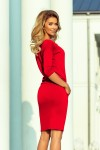 13-96 Sportinio stiliaus suknelė su kišenėmis ir raišteliais - Raudona