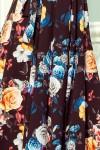194-3 Nuostabi ilga plazdanti gėlėta suknelė