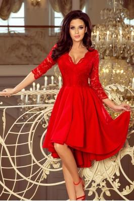 210-6 NICOLLE - Puošni raudona gipiūrinė suknelė