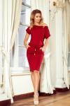 139-5 Patogi suknelė trumpomis rankovėmis - Burgundiška