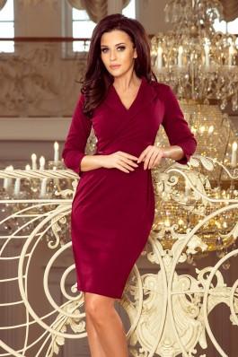237-2 KELLY Klasikinio stiliaus elegantiška suknelė - Burgundiška