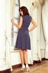 241-1 STELLA Suknelė su taškeliais - Tamsiai mėlyna