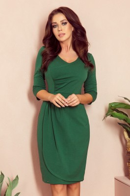 255-2 IRIS Dress with pleats - green