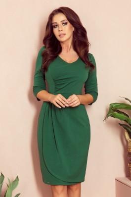 255-2 IRIS Žalia plisuota suknelė