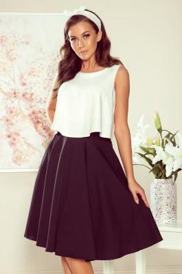 266-2 Juodas midi ilgio sijonas