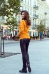 262-1 Hooded sweatshirt with pockets - mustard